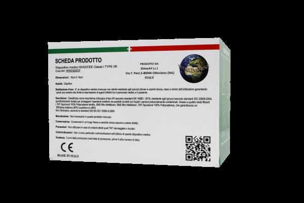 Mascherine Chirurgiche Tipo IIR Antivirus Italiane Protezione BFE>98% 2