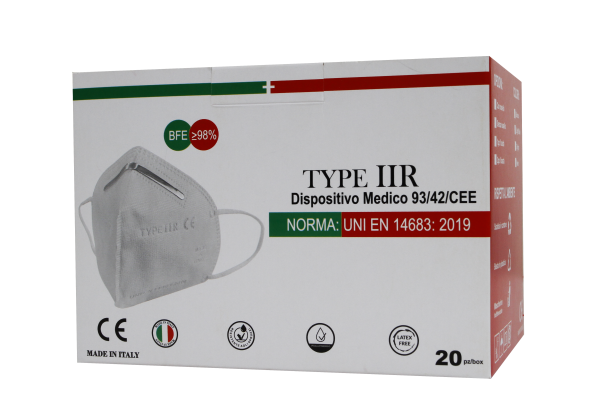 Mascherine Chirurgiche Tipo IIR Antivirus Italiane Protezione BFE>98% 1